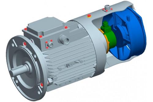 Асинхронные двигатели с независимой вентиляцией