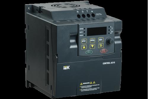 Частотный преобразователь IEK CONTROL серии A310 220В 1Ф 0,4кВт 2A