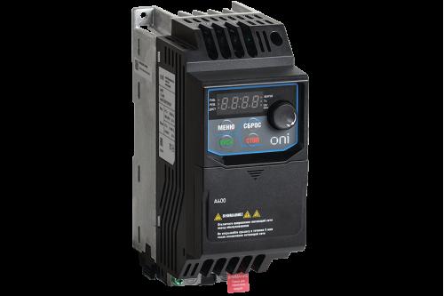 Частотный преобразователь ONI серии A400 220В 1Ф 0,20кВт 1,5А