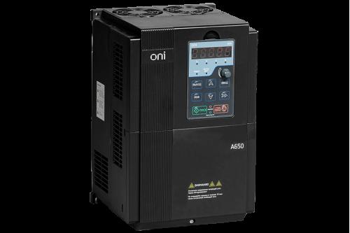 Частотный преобразователь ONI серии A650 380В 3Ф 110кВт 210А с дросселем в ЦПТ в комплекте